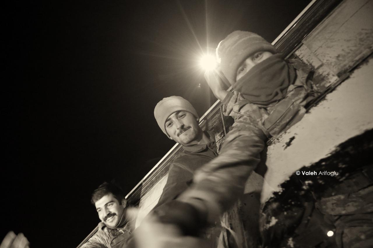 Qusar qəhrəman oğullarını belə qarşıladı - FOTOLAR