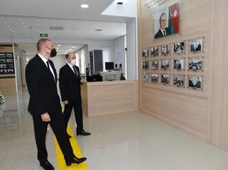 Prezident Suraxanı Rayon Məhkəməsinin yeni binasının açılışında iştirak edib - YENİLƏNİB/FOTO