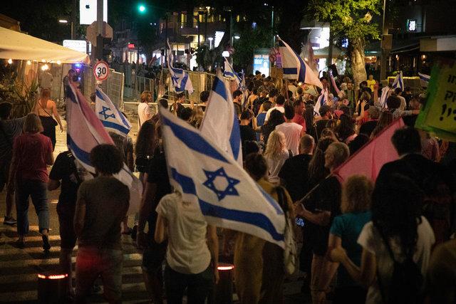 İsrail xalqı Netanyahunun gedişini belə qeyd etdi – FOTOLAR