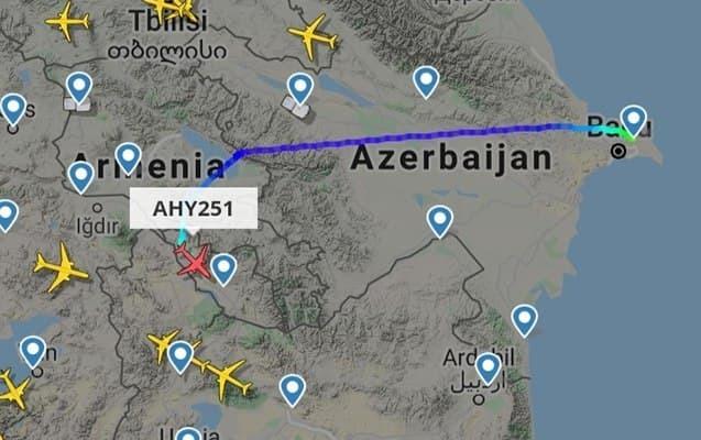AZAL Ermənistan üzrərindən uçuşlara başladı - FOTO