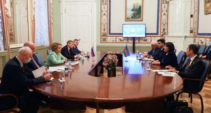 Sahibə Qafarova Rusiya Federasiya Şurasının sədri Valentina Matviyenko ilə görüşüb.