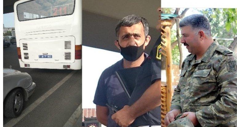 Qarabağ qazisinin maşınını vuran avtobus sürücüsü onu hədələdi: