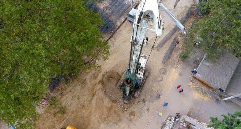 Tovuzda yeni avtomobil tunelinin inşasına başlanılıb - FOTO