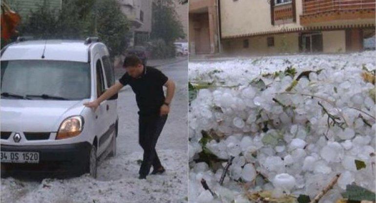 İstanbulu dolu vurdu - FOTO / VİDEO