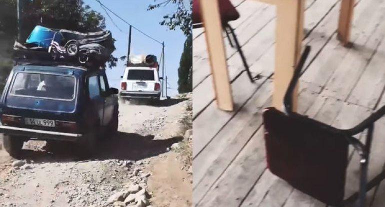 Ermənilər Dağlıq Qarabağı tərk edirlər - VİDEO