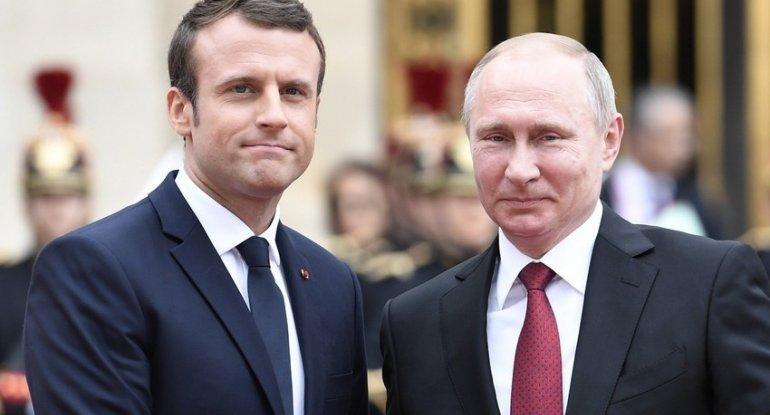 Putin və Makron Dağlıq Qarabağ münaqişəsini müzakirə ediblər