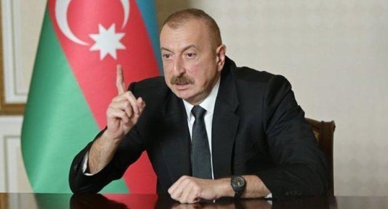 """İlham Əliyev: """"Ermənistan sülh istəmir, onlar bizim torpaqları həmişəlik işğal altında saxlamaq istəyirlər"""""""