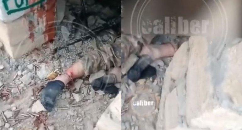 Erməni işğalçıları postdan qaçmasın deyə qandallanırlar - VİDEO