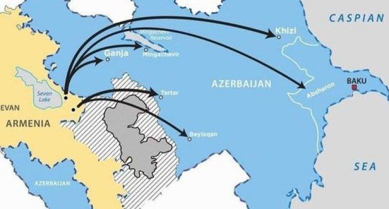 Erməni terrorçularının Azərbaycan ərazilərini hədəf alan raket zərbələri il ...