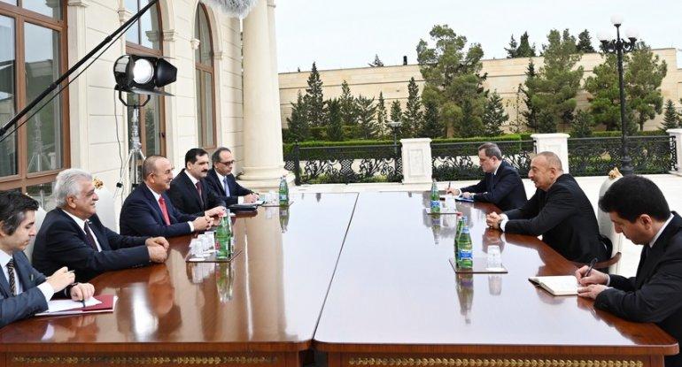 Prezident İlham Əliyev Mövlud Çavuşoğlunu qəbul etdi
