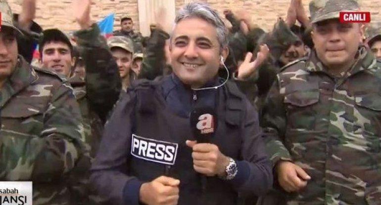 """Azərbaycan əsgərləri Türkiyə telekanalının canlı yayımında: """"Qarabağ bizimdir, bizim olacaq"""" - VİDEO"""