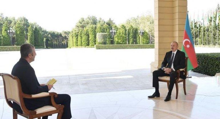 """İlham Əliyev """"CNN-Türk"""" televiziyasına müsahibə verib - FOTO"""