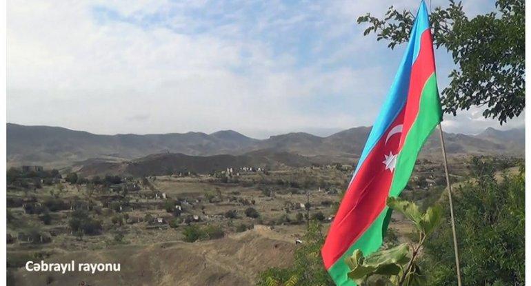 Cəbrayılda Azərbaycan bayrağı dalğalanır - VİDEO