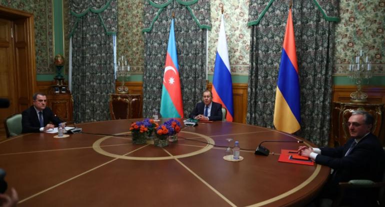 Azərbaycan, Rusiya və Ermənistanın XİN başçıları bəyanat qəbul ediblər