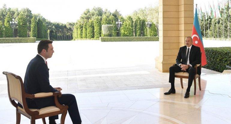 """Prezident Türkiyənin """"Haber Global"""" televiziya kanalına müsahibə verib"""