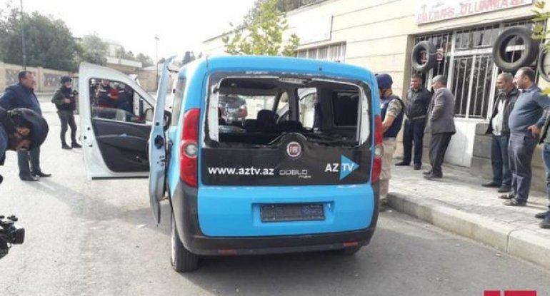 Düşmən AzTV-nin maşınını atəşə tutdu: Yaralı var - FOTO