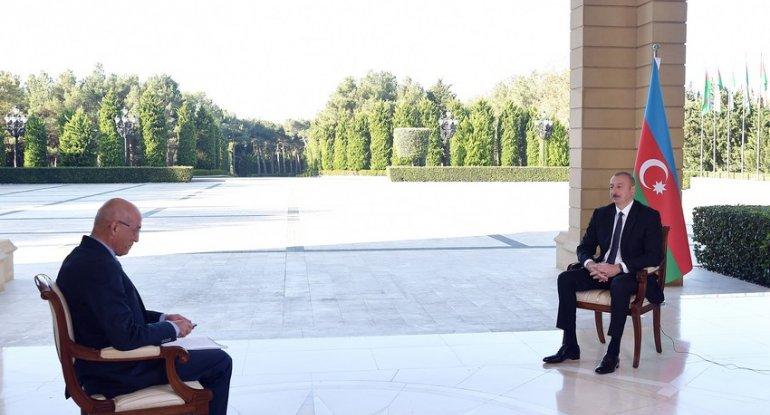 Prezident İlham Əliyev Türkiyənin NTV televiziyasına müsahibə verib