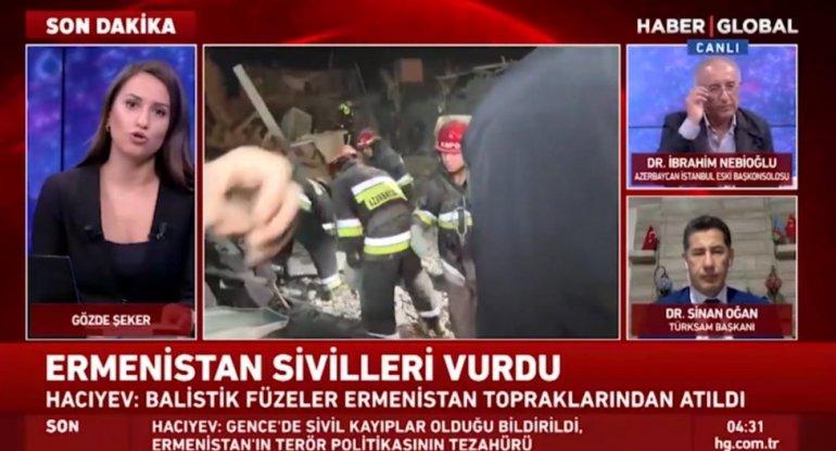 TÜRKSAM: Ermənistan Gəncədə müharibədə qadağan olunan raketləri istifadə edir - VİDEO