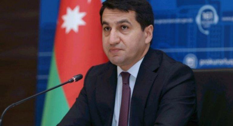 """Hikmət Hacıyev """"Al Arabiya"""" kanalına müsahibə verib - VİDEO"""