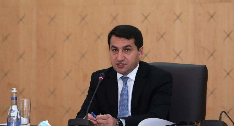 """Hikmət Hacıyev: """"Ermənistanın baş naziri yenidən yalan danışır"""" - FOTO"""