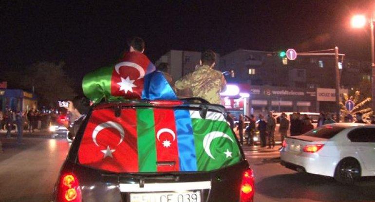 Qubadlı şəhərinin işğaldan azad olunması Sumqayıt şəhərində sevinclə qarşılandı - VİDEO