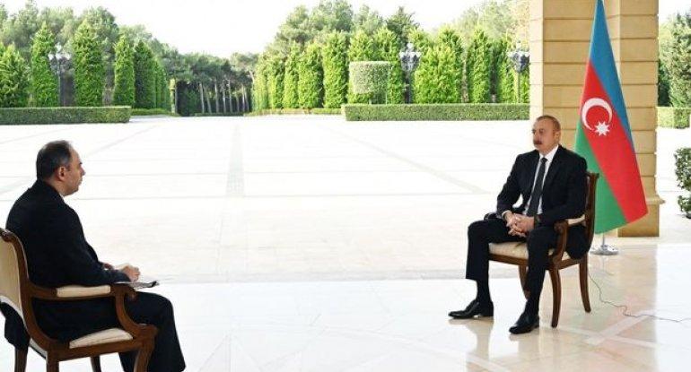 """İlham Əliyev Rusiyanın """"İnterfaks"""" agentliyinə müsahibə verib - FOTO"""