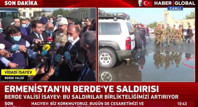 """""""Haber Global"""" Bərdədə erməni cinayətlərinin son nəticələrini çatdırır - CANLI YAYIM"""