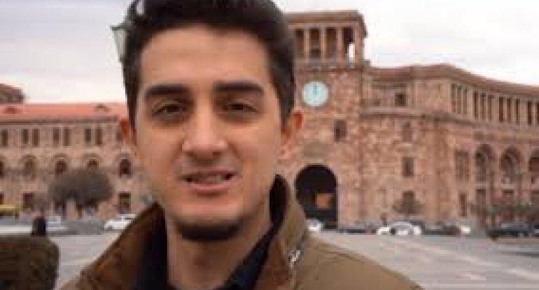Ruhi Çenet Qarabağda çəkiliş apararkən yaxınlığına mərmi düşdü - VİDEO