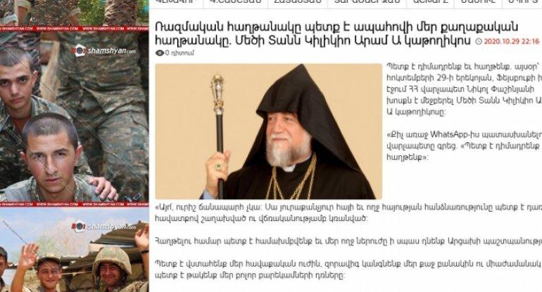 Erməni din xadimləri yenidən qan tökməyə çağırır
