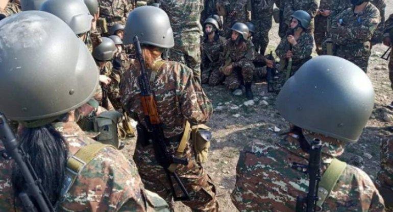 Ermənistanda kişi tapılmadı, döyüşə qadınlar gedir - FOTOLAR