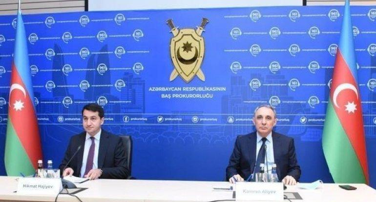 Ermənistanın hərbi cinayətləri ilə bağlı AÇIQLAMA - CANLI YAYIM