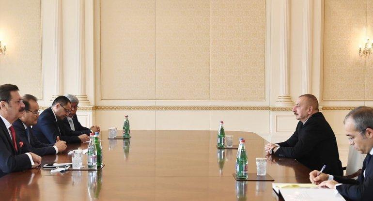 Prezident Bağdad Amreyevi, Mustafa Rifatı, Adham İkramovu və Marat Şarşekeyevi qəbul edib