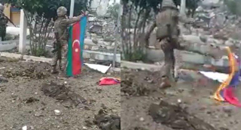 """Suqovuşana bayrağımızı sancan əsgərin atası: """"Oğlumun şəhid olması xəbəri gəldi, amma..."""" - VİDEOREPORTAJ"""
