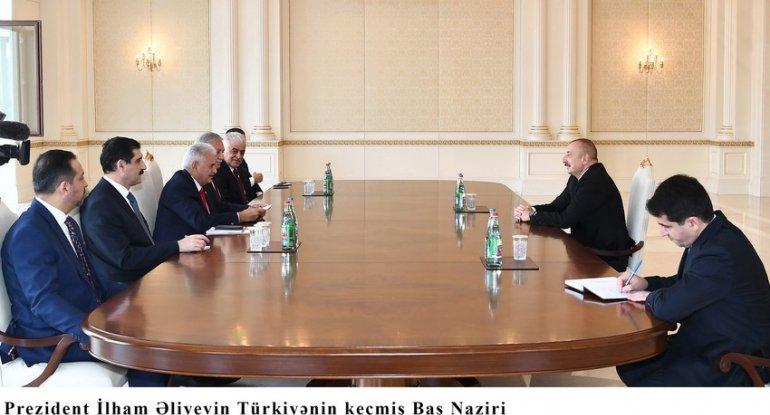 Prezident İlham Əliyev Binəli Yıldırımı qəbul edib