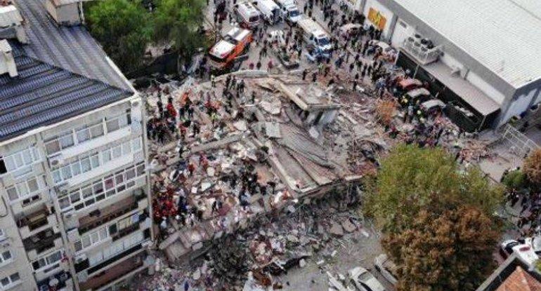 İzmirdə axtarış-xilasetmə işləri dayandırıldı
