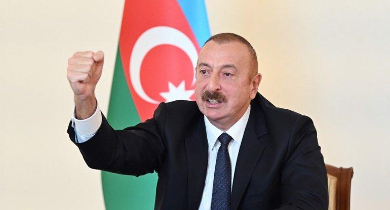 """Prezident İlham Əliyev: """"Xocalı və Xocavəndin kəndləri işğaldan azad edilib"""""""