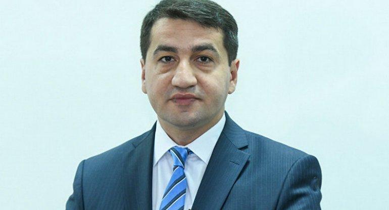 """Hikmət Hacıyev: """"Şəhidlərimiz geosiyasi oyunları darmadağın etdilər"""""""