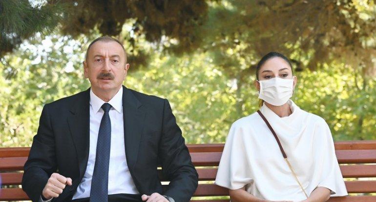 İlham Əliyev və Mehriban Əliyeva 1 saylı Kliniki Tibbi Mərkəzdə müalicə olunan hərbçilərlə görüşüblər