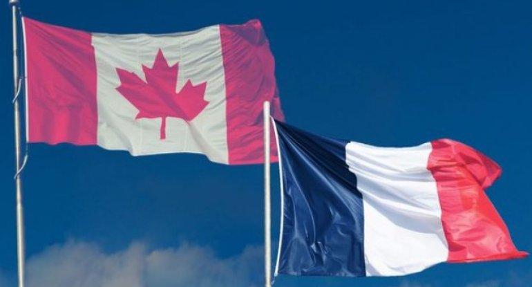 """Fransa """"tutduğunu buraxmayan kor"""", Kanada """"toydan sonra nağaraçı"""" qismində  ..."""