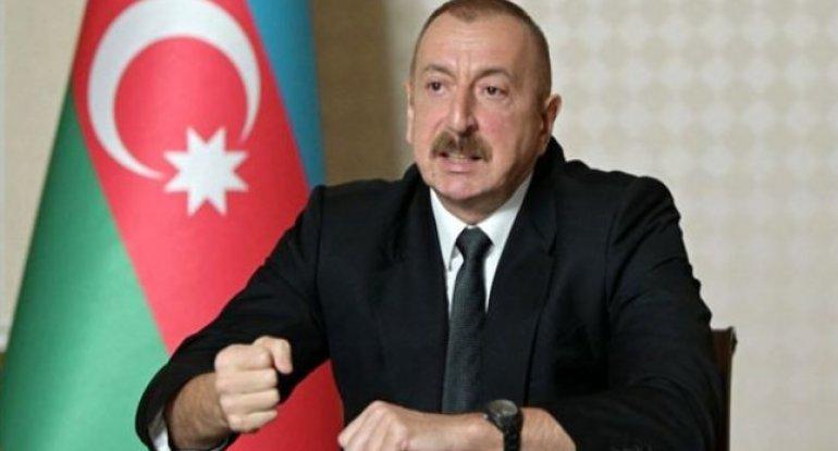 """İlham Əliyev: """"Dəyən ziyan hesablanacaq, ermənilər bu dağıntılara görə cavab verəcəklər"""" - VİDEO"""