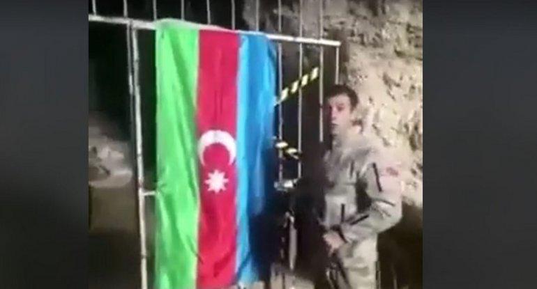Azərbaycan əsgəri Azıx mağarasında - VİDEO