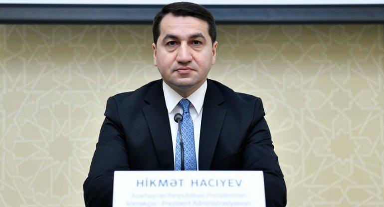 Hikmət Hacıyev: Füzuli Ermənistanın işğalı nəticəsində xarabalığa çevrilib