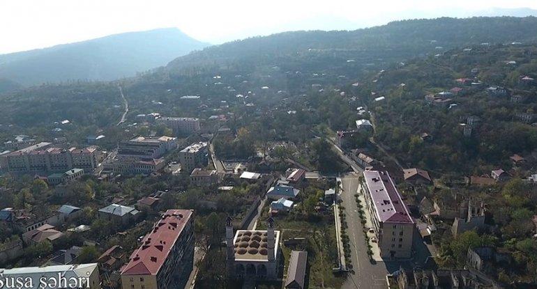 Şuşa şəhərinin havadan görüntüsü