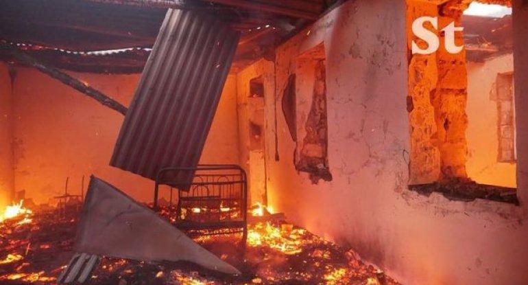 Erməni vandalizmi yenə özünü göstərdi: Bu dəfə Laçını yandırırlar - FOTO