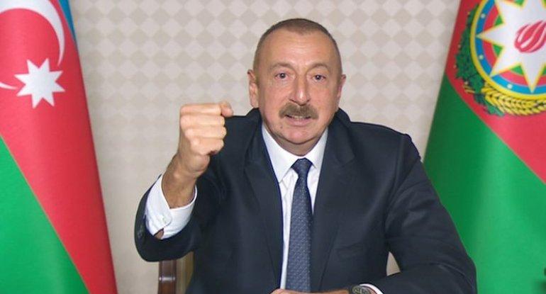 """Azərbaycan Prezidenti: """"Böyük sevinc hissi ilə bildirirəm ki, Laçın rayonu işğaldan azad olunub"""""""