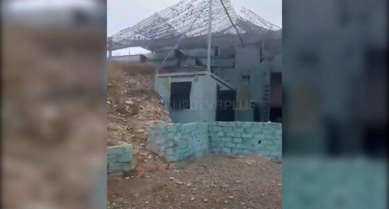 Erməni silahlı qüvvələrinin gizləndiyi beton sığınacaq - VİDEO