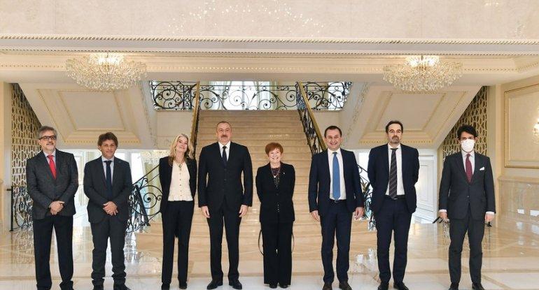 """Dövlət başçısı: """"İtaliya ilə Azərbaycan arasındakı əlaqələr çox sürətlə ink ..."""