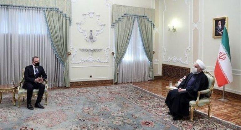 Ceyhun Bayramov İran Prezidenti ilə görüşüb