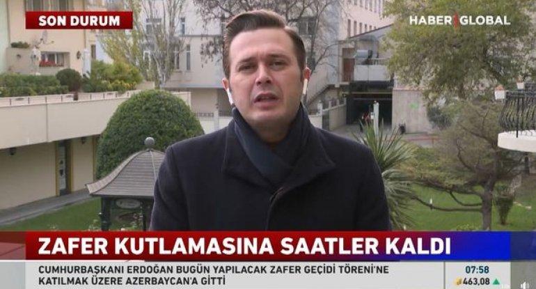 """Bakıdakı Zəfər paradı """"Haber Global""""ın gündəmində - VİDEO"""