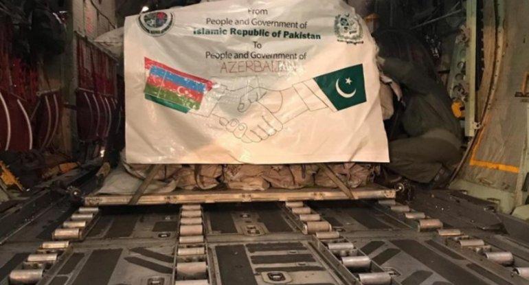 Pakistan Azərbaycana humanitar yardım göndərib - FOTO